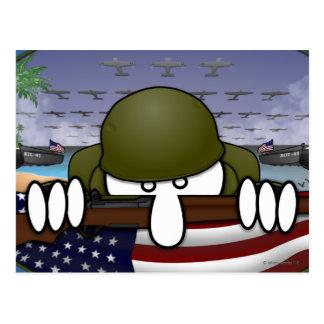 World War 2 Kilroy Postcard