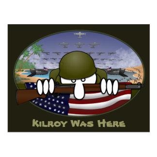 World War 2 Kilroy Postcard 2