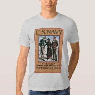 World War 2 Navy Recruiting T Shirt