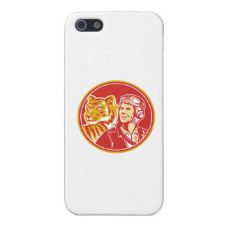 World War 2 Pilot Airman Tiger Circle Retro Cover For iPhone SE/5/5s