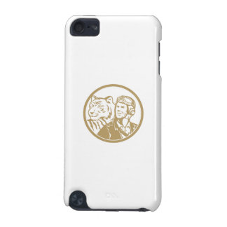 World War 2 Pilot Airman Tiger Gold Circle Retro iPod Touch 5G Cover
