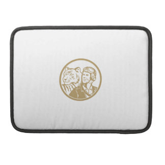 World War 2 Pilot Airman Tiger Gold Circle Retro Sleeve For MacBook Pro