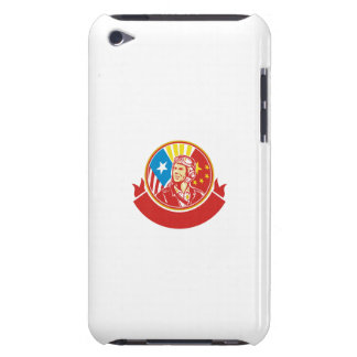 World War 2 Pilot USA China Flag Circle Retro Barely There iPod Case