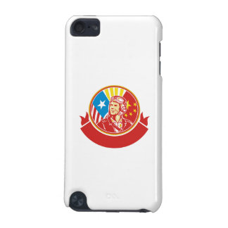World War 2 Pilot USA China Flag Circle Retro iPod Touch (5th Generation) Cover