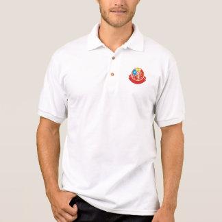 World War 2 Pilot USA China Flag Circle Retro Polo Shirt
