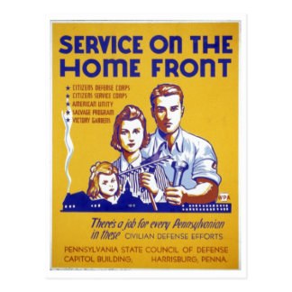 World War 2 Service on the home front Poster Postcard
