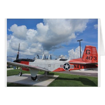 World War 2 US Navy T-34 Mentor trainer Card