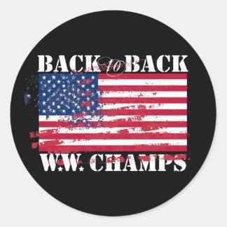 World War Champions Classic Round Sticker