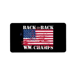 World War Champions Address Label