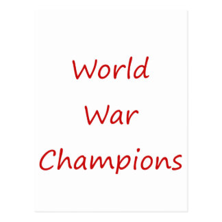 World War Champions Postcard