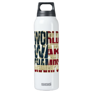 World War Champions - USA Flag - Distressed Insulated Water Bottle