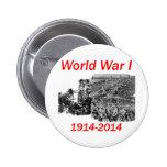 World War I (1914-2014) Pinback Buttons