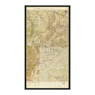 World War I 26th, 29th & 82nd Divs. 5th Corps Map Canvas Print