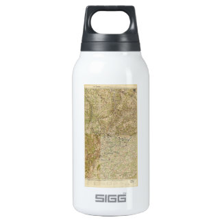 World War I 26th, 29th & 82nd Divs. 5th Corps Map Insulated Water Bottle