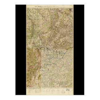 World War I 26th, 29th & 82nd Divs. 5th Corps Map Postcard