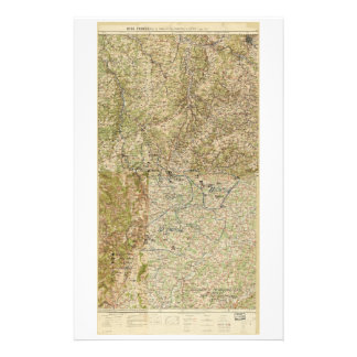World War I 26th, 29th & 82nd Divs. 5th Corps Map Stationery