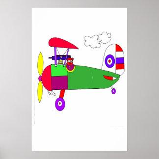 WORLD WAR I AIRPLANE POSTER