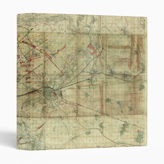 World War I Battle of the Canal du Nord Battle Map 3 Ring Binder
