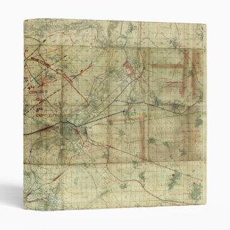 World War I Battle of the Canal du Nord Battle Map Vinyl Binders