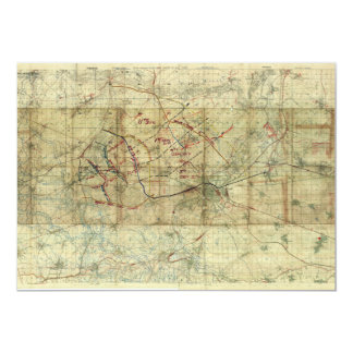 World War I Battle of the Canal du Nord Battle Map Personalized Announcements