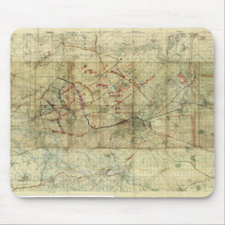 World War I Battle of the Canal du Nord Battle Map Mouse Pad