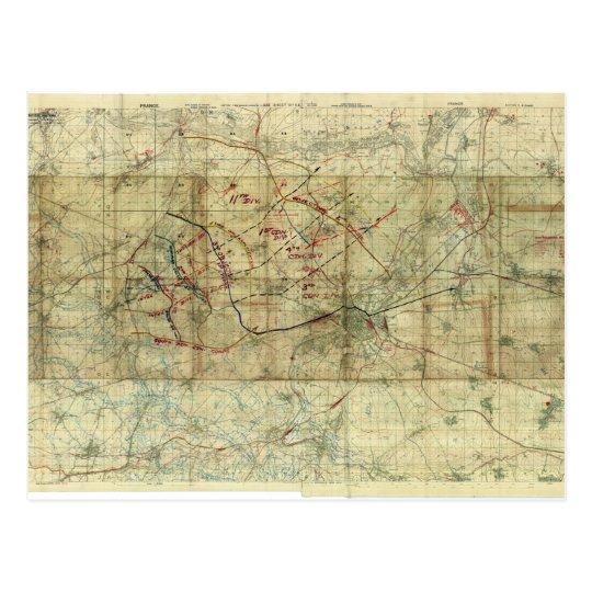 World War I Battle of the Canal du Nord Battle Map Postcard
