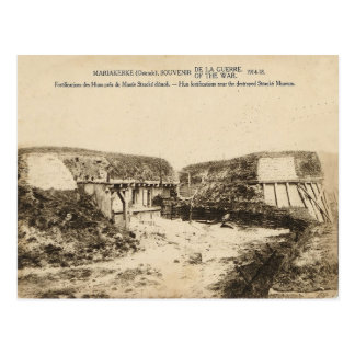 World War I, Belgium,Mariakerke, Fortifications Postcard