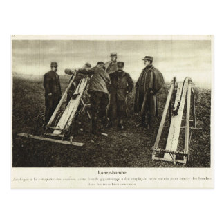 World War I, Bomb launcher Postcard