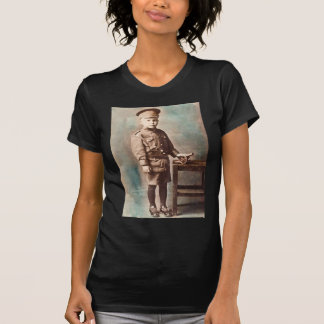 World War I Boy and Toy Cannon Hand Tinted T-Shirt
