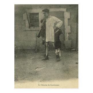 World War I, Combattant's night shirt Postcard