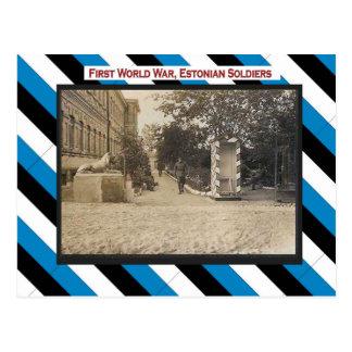 World War I, Estonian soldiers barracks Postcard