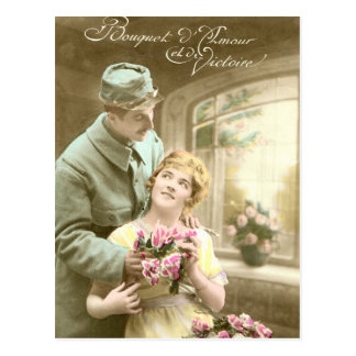 World War I, Flowers of love and victory Postcard