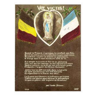 World War I, France,  Belgium, devotional card