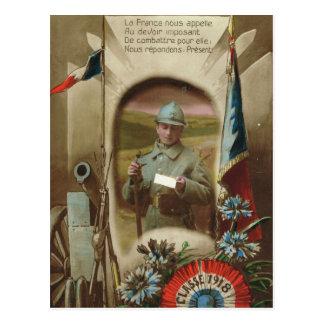 World War I, France, Class of 1918 Postcard