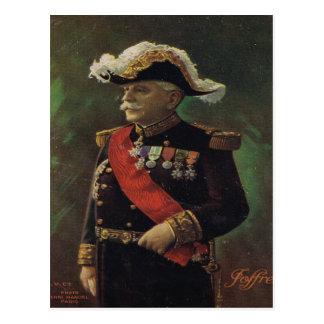 World War I, France,  General Joffre Postcard