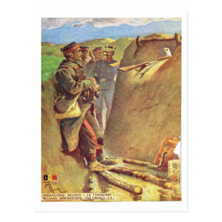 World War I, France,  Life in the trenches Postcard