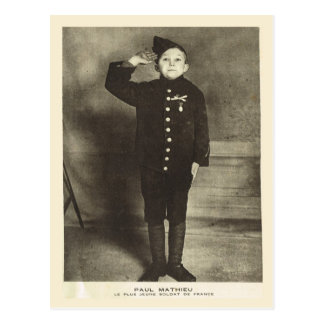 World War I, France,  Youngest French soldier Postcard