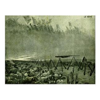 World War I,   French battlefield, La Reve Post Card
