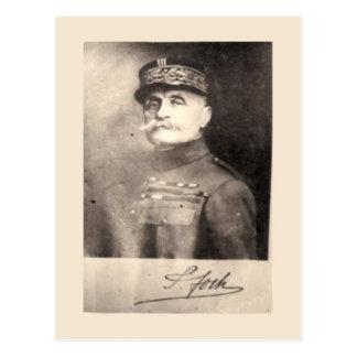 World War I, Marechal Foch, signed image Postcard