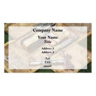 World War I Shaving Kit Business Card Templates