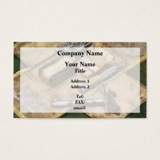 World War I Shaving Kit Business Card