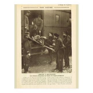World War I,  Transporting the wounded Postcard