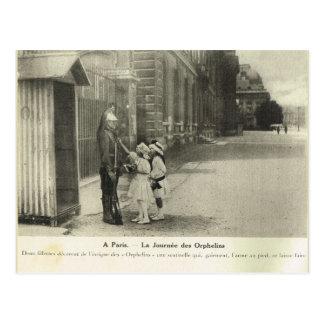 World War I, Visiting the barracks Postcard