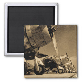 World War II Airplanes 2 Inch Square Magnet