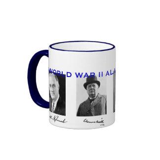 World War II Allied Leaders Mug* Ringer Coffee Mug