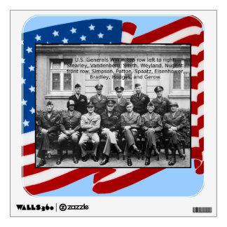 World War II American Generals Decal
