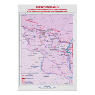 World War II Battle of Stalingrad Operation Uranus Poster