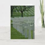 World War II cemetery, Memorial Day Card