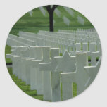 World War II cemetery, Memorial Day Classic Round Sticker