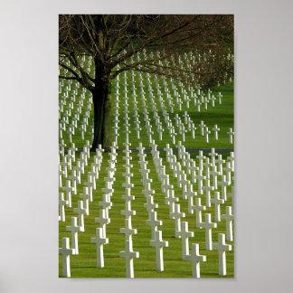 World War II cemetery, Memorial Day II Poster